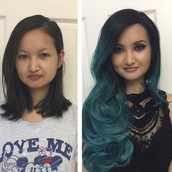 Twisted Teal Lace Front Wig