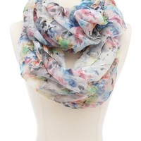 Pastel Floral Infinity Scarf: Charlotte Russe