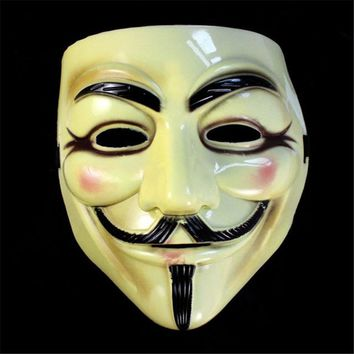 Original High Quality Cool Delicate V For Vendetta Guy Fawkes Style Dress Party Halloween Masquerade Face Mask Jul 3