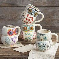 Folk  Owl  Mugs  From  Natural  Life