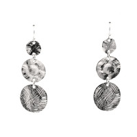Refuge Texture Dangle Earrings In Silver