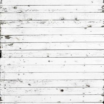 White Planks Wood Vinyl Backdrop - 6x8 - LCCR1936- LAST CALL