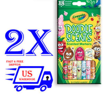 Crayola Doodle Scents Markers (18 Count) Pack of 2