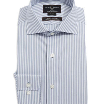 Black Brown 1826 Fitted Striped Dress Shirt