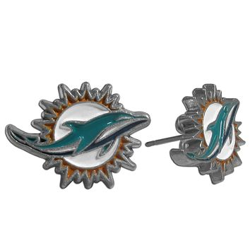Miami Dolphins Iconic Logo Stud Earrings