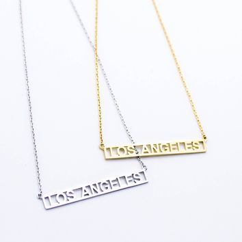 Los Angeles bar necklace