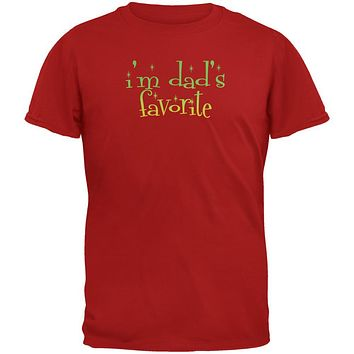 Christmas I'm Dad's Favorite Red Youth T-Shirt