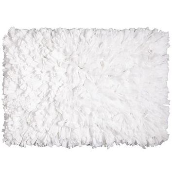Fluffy Shag Rug - White