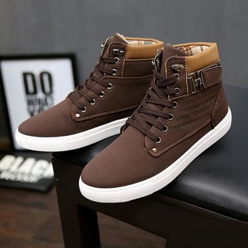 Men's Ankle Casual Boots Shoes