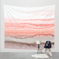 WITHIN THE TIDES CORAL DAWN Wall Tapestry by Monika Strigel