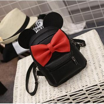 Mickey Mouse leather Backpack For Women