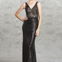 Prom Dress with Sequins Beading Throughout APL1505