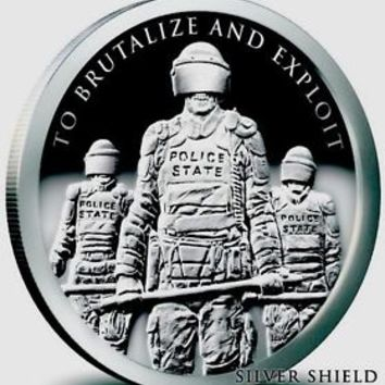 Police State 1 OZ .999 Silver proof Round Facisim Cops Police Coin Silver Shield