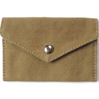 Recycled Boy Scout Canvas ID Snap Wallet