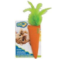 Cosmic Catnip Carrot 24 Karat Cat Toy