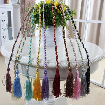 15 Colors Window Cotton Rope Tie Backs Curtain Fringe Tiebacks Room Tassel Decor 5576