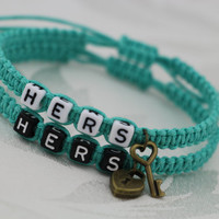 Couples Bracelets, Hers and Hers Bracelets, Key Lock Bracelets, Anniversary Gifts, Gay Lesbian Bracelets, LGBTQ Friendship Graduation Gifts,