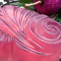 Sugar Plum Faerie Soap - Truly Enchanting Soap - Pink Glittery Soap For Glittery People