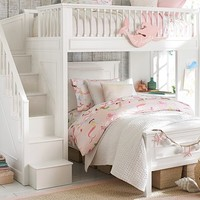 Fillmore Stair Loft Bed & Lower Bed Set
