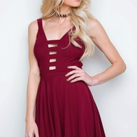 Hartley Skater Dress - Burgundy