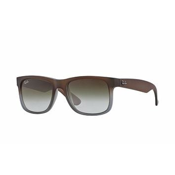 Cheap Ray-Ban RB4165 Justin Sunglasses 854/7Z Brown Frame/Green Gradient Lens 51mm