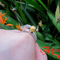 HARRY POTTER Golden Snitch Ring