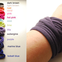 NEW COLORS Endless Wrap Wrist Cuff Basic Stretch Wrist Bracelet Fashion accessory Women Teens Wrist Tattoo Cover