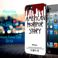 American Horror story Samsung Galaxy S3/ S4 case, iPhone 4/4S / 5/ 5s/ 5c case, iPod Touch 4 / 5 case