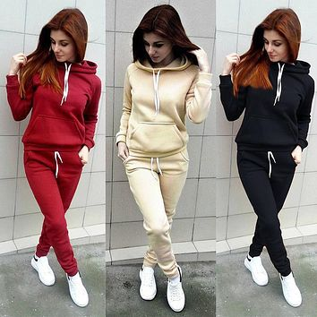 2018 Autumn Casual 2 Pieces Suit Women Hoodies Tops Tracksuit Sweat Suit Women's Set