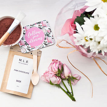 Pink Chocolate clay mask 30G face mask, bridal party gift idea