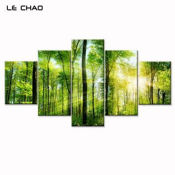 Wall Pictures for Living Room Canvas Painting Forest Landscape Modern Wall Art Modular Painting Posters and Prints Canvas Art