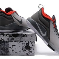 Nike Mens Lebron Zoom Witness 2.0 Gray/Red Sneakers US 8-12