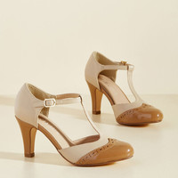 Chelsea Crew Vivacious Vibes T-Strap Heel in Tan