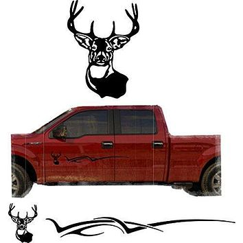 Deer Hunting Buck Trailer Decals Truck Decal Side Set Vinyl Sticker Auto Decor Graphic Kit TT13