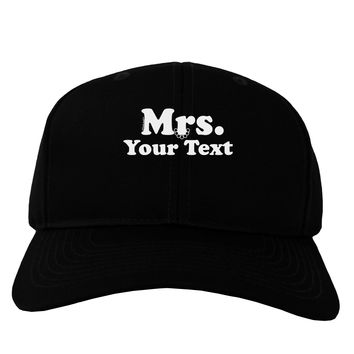 Personalized Mrs Classy Adult Dark Baseball Cap Hat by TooLoud