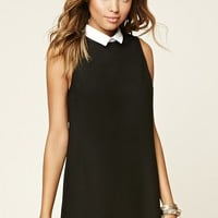 Contrast Collar Mini Dress