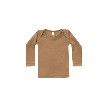 Quincy Mae: Ribbed Lap Tee (Copper)