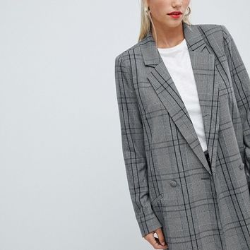 Vila check blazer at asos.com