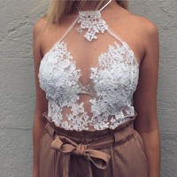Embroidery Lace Shirt Top Tee Vest Tank Top Camisole