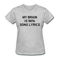 Song Lyrics T-Shirt | djbalogh