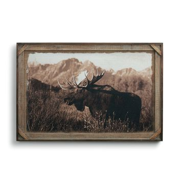 Bull Moose Barnwood Gallery Art