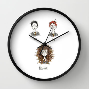 Harry Potter and Friends Wall Clock by GabrielaSa | Society6
