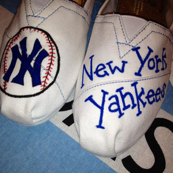 New York Yankees Inspired Custom TOMS
