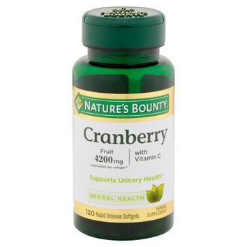 Nature's Bounty Cranberry Herbal Health Rapid Release Softgels, 120 count - Walmart.com