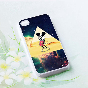 Mickey mouse Hipster Triangle Galaxy Hard plastic case iphone 4,4s,5,samsung s3 i9300,samsung s4 i9500
