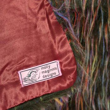 Fabulous Faux Fur Designer Throw by Film Costume Designer Molly Maginnis Faux Fur Wild Browns/Purple
