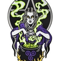 Witch Cauldron Large Back Patch (Glow-in-the-Dark)