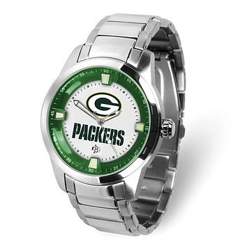 Stainless Steel Green Bay Packers NFL Team Watch