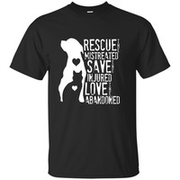 Rescue- Save- Love Animal Rescue- Dog Lover Cat Lover Shirt