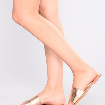 Kellen Sliders - Rose Gold